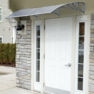 Patio 3 ft. W x 7 ft. D Window and Door Awning by HomCom