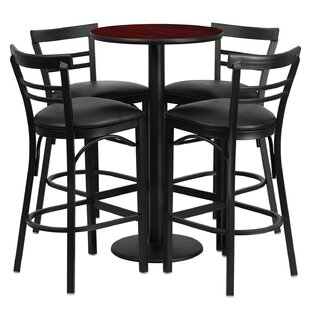 Lomonaco 5 Piece Pub Table Set