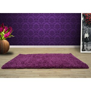 Opus Shaggy and Flokati Purple Area Rug
