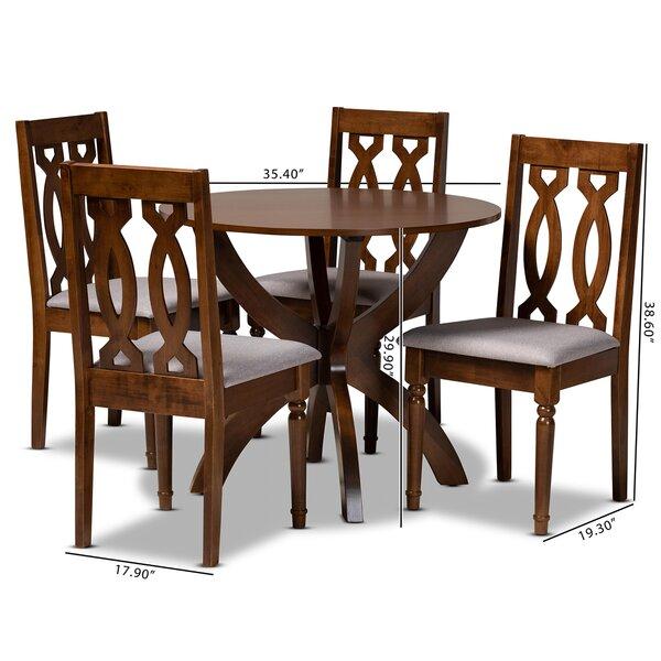 Alcott Hill Sandin 5 Piece Solid Oak Dining Set Wayfair