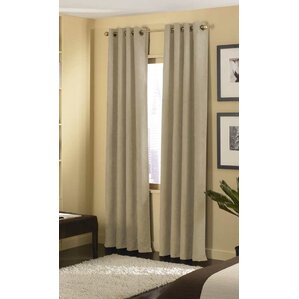 Charming Cameron Solid Blackout Grommet Single Curtain Panel