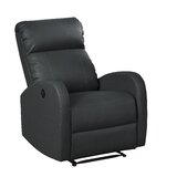 Troutman Faux Leather Power Recliner with Massage by Latitude Run®
