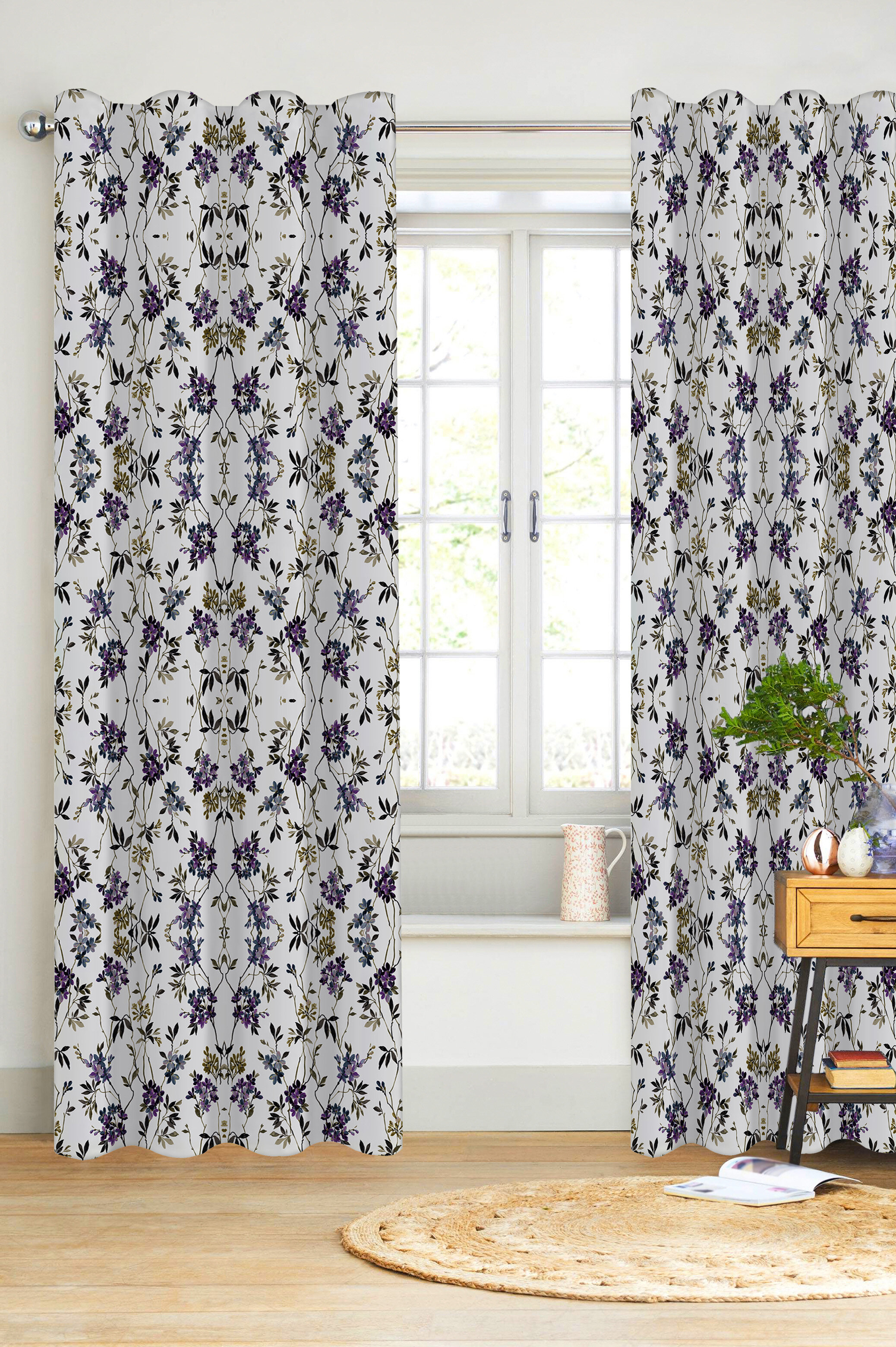 Floral Canora Grey Curtains Drapes You Ll Love In 2021 Wayfair