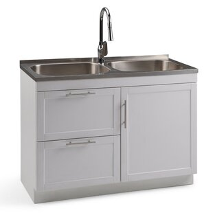 Bothell 46 X 20 Freestanding Laundry Sink With Faucet
