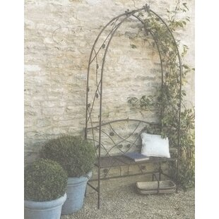 Carl Wrought Iron Arbour By Brambly Cottage