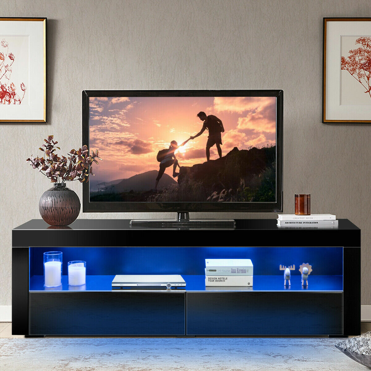 Brayden Studio Emmetta Tv Stand For Tvs Up To 70 Wayfair