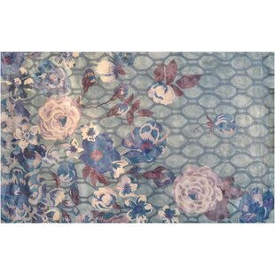 Compare prices Barrow Hand-Tufted Grey/Lilac Area Rug By Meridian Rugmakers