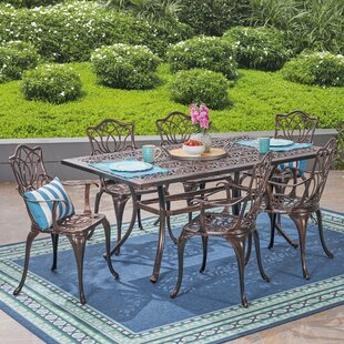 Berton Outdoor 7 Piece Dining Set