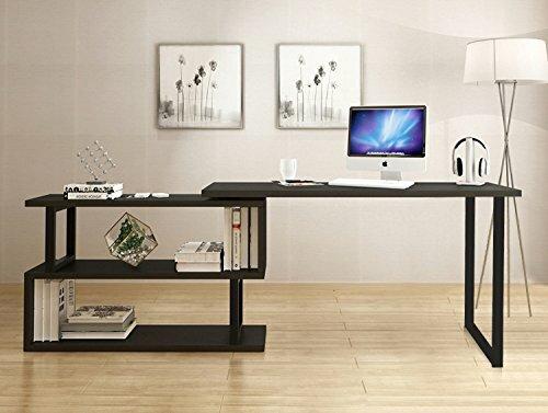 red prestige in shaped x p desk computer en bestar home inch l