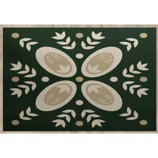 Mazee Green Indoor/Outdoor Area Rug