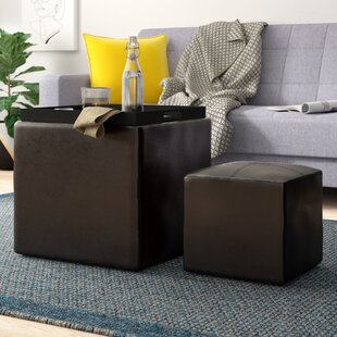 Marla 2 Piece Cube Ottoman Set by Zipcode Design