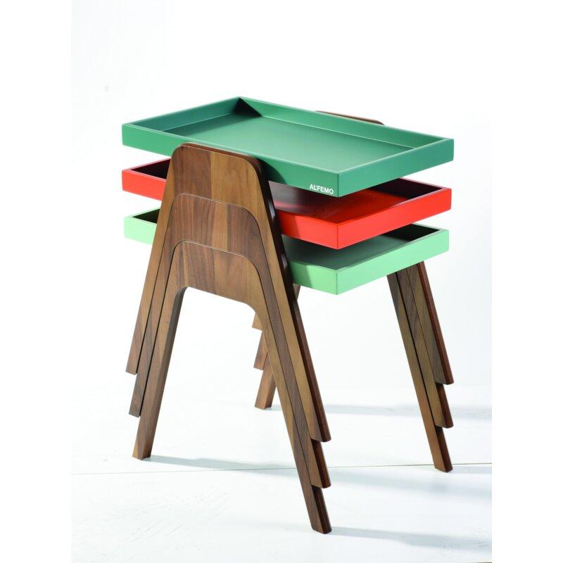 Brayden Studio Reidar Nesting Tables  Color: Light Green