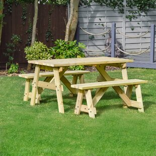 Sol 72 Outdoor Solid Wood Picnic Bench Image