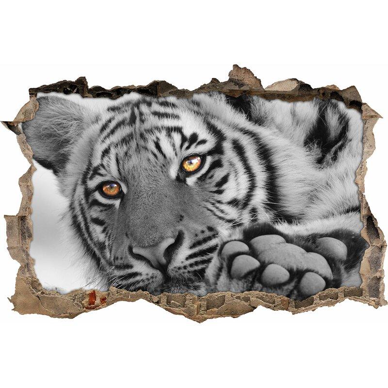 East Urban Home Wandtattoo Entspannter Tiger Wayfair De