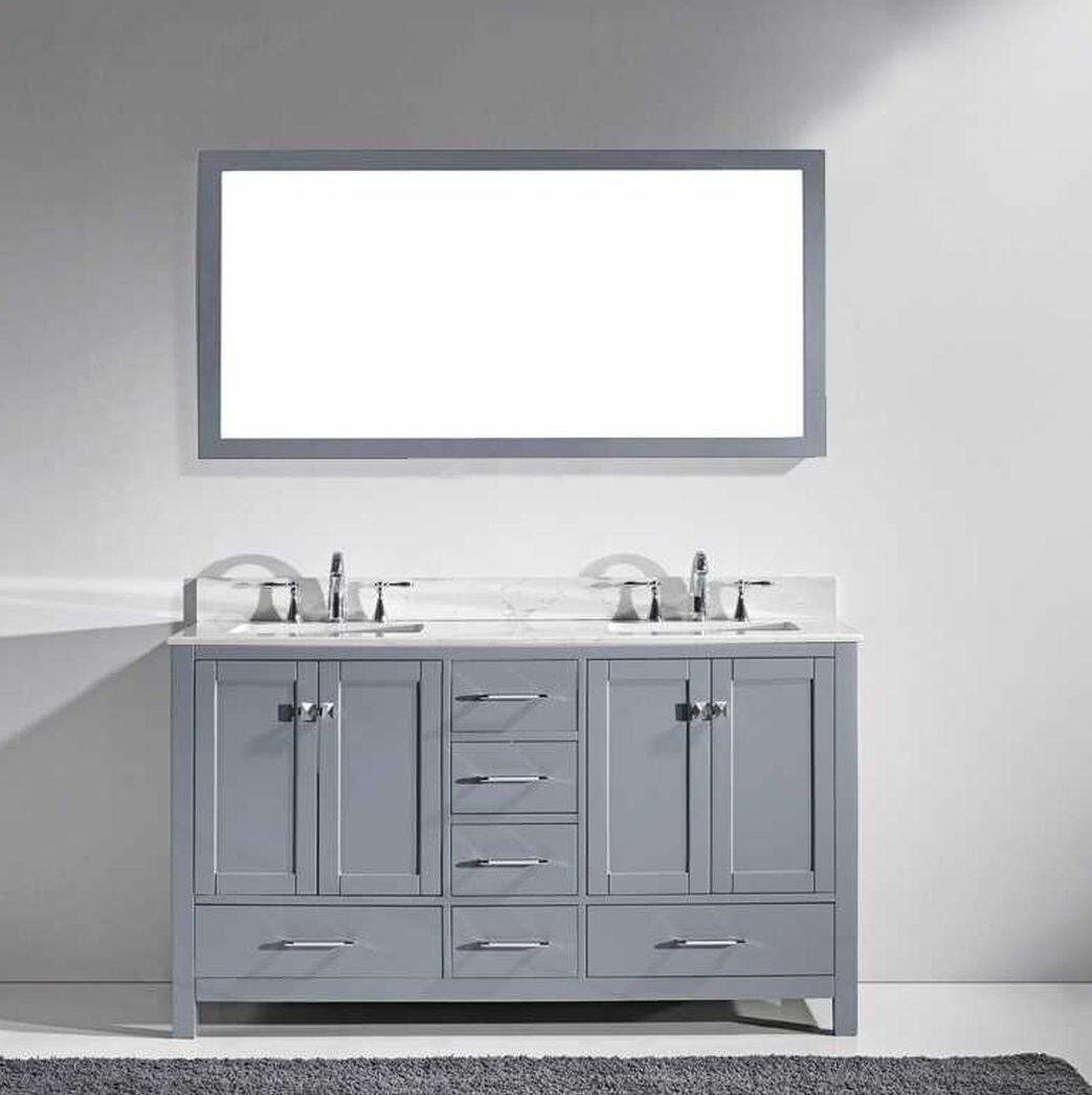 Willa Arlo Interiors Serigne 61 Double Bathroom Vanity Set With