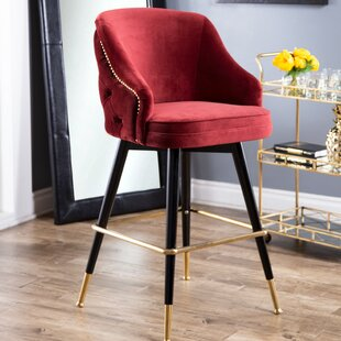 Giddings 30.7 Bar Stool by Everly Quinn