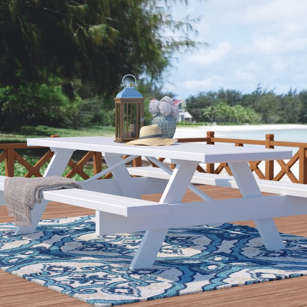Beachcrest Home Windermere Plastic Resin Picnic Table Reviews Wayfair