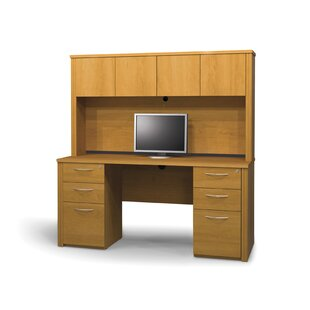 Latitude Run Witchel Standard Desk Office Suite with Hutch