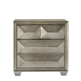 Daley 3 Drawer Nightstand