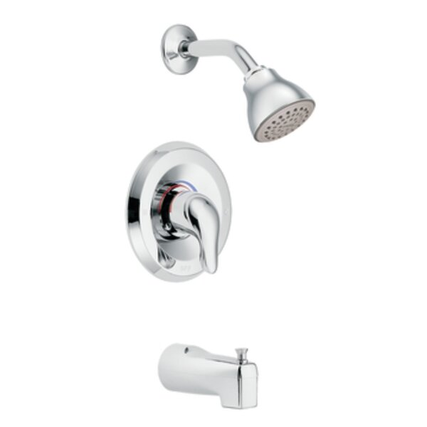 Chateau Thermostatic Tub and Shower Faucet with Lever Handle and Posi-Temp