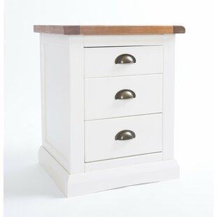 Dashiell 3 Drawer Bedside Table By August Grove