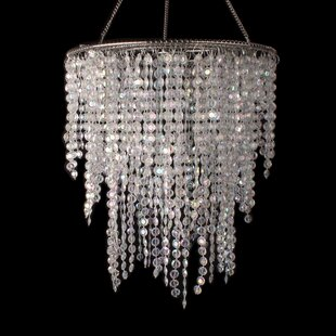Bingen 3 Layered Crystal Iridescent Diamond Cut Crystal Chandelier