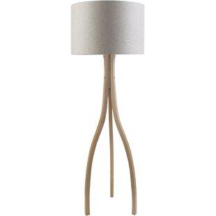 Modern tripod wood floor lamps allmodern save to idea board aloadofball Choice Image