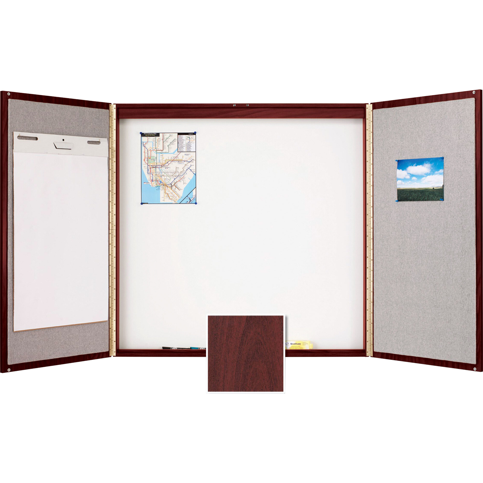 Quartet Conference Room Enclosed Cabinet Whiteboard 4 H X 4 W Reviews Wayfair