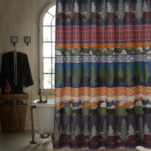 Looking for Black Bear Lodge Shower Curtain ByGreenland Home Fashions