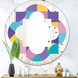 Quatrefoil Geometrical I Eclectic Frameless Wall Mirror by East Urban Home