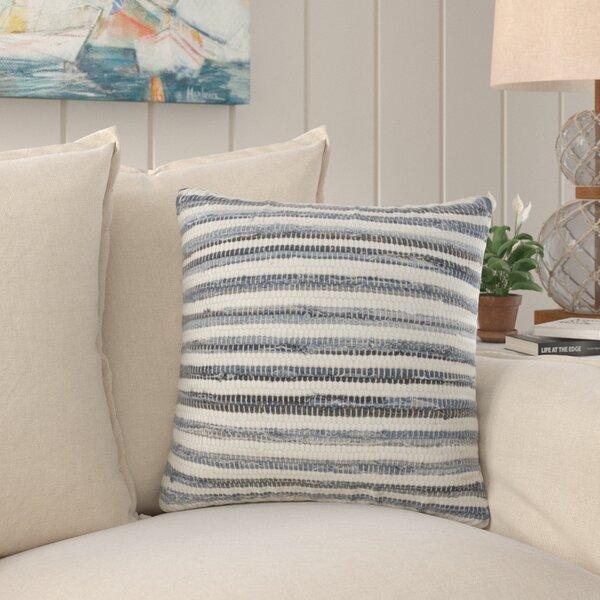 Highland Dunes Javen Striped Denim Chindi Cotton Down Striped 18 Throw Pillow Wayfair