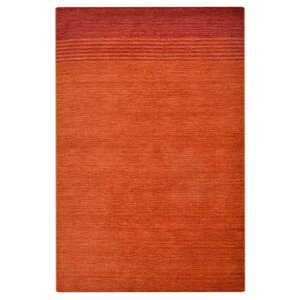 Delano Contemporary Hand Knotted Wool Red Area Rug