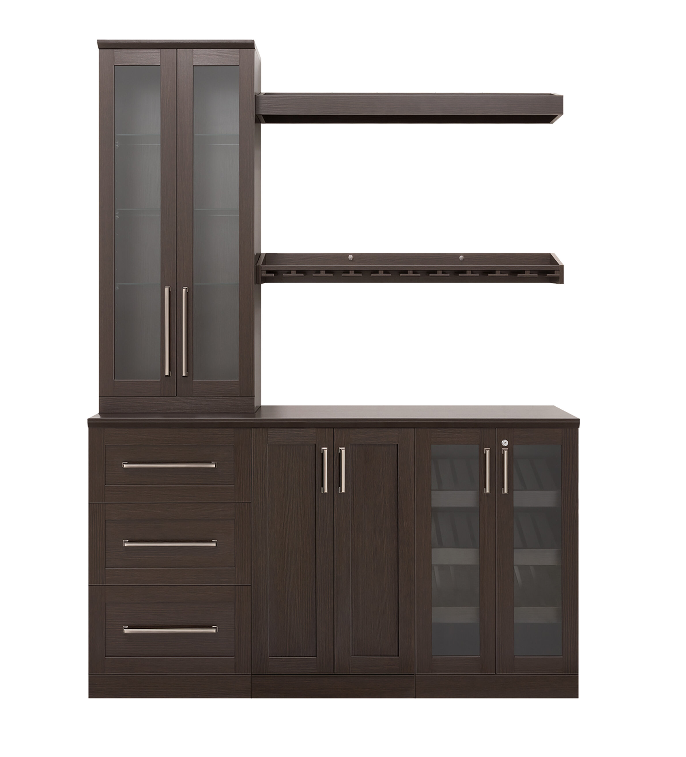 Newage Products Home 7 Piece Set Shaker Style 21 Bar Cabinet Reviews Wayfair