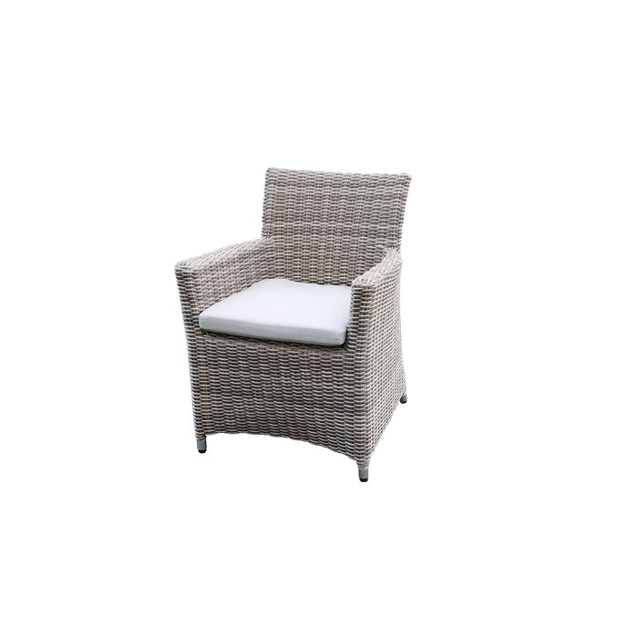 Soto Outdoor Wicker Patio Dining Chair With Cushion