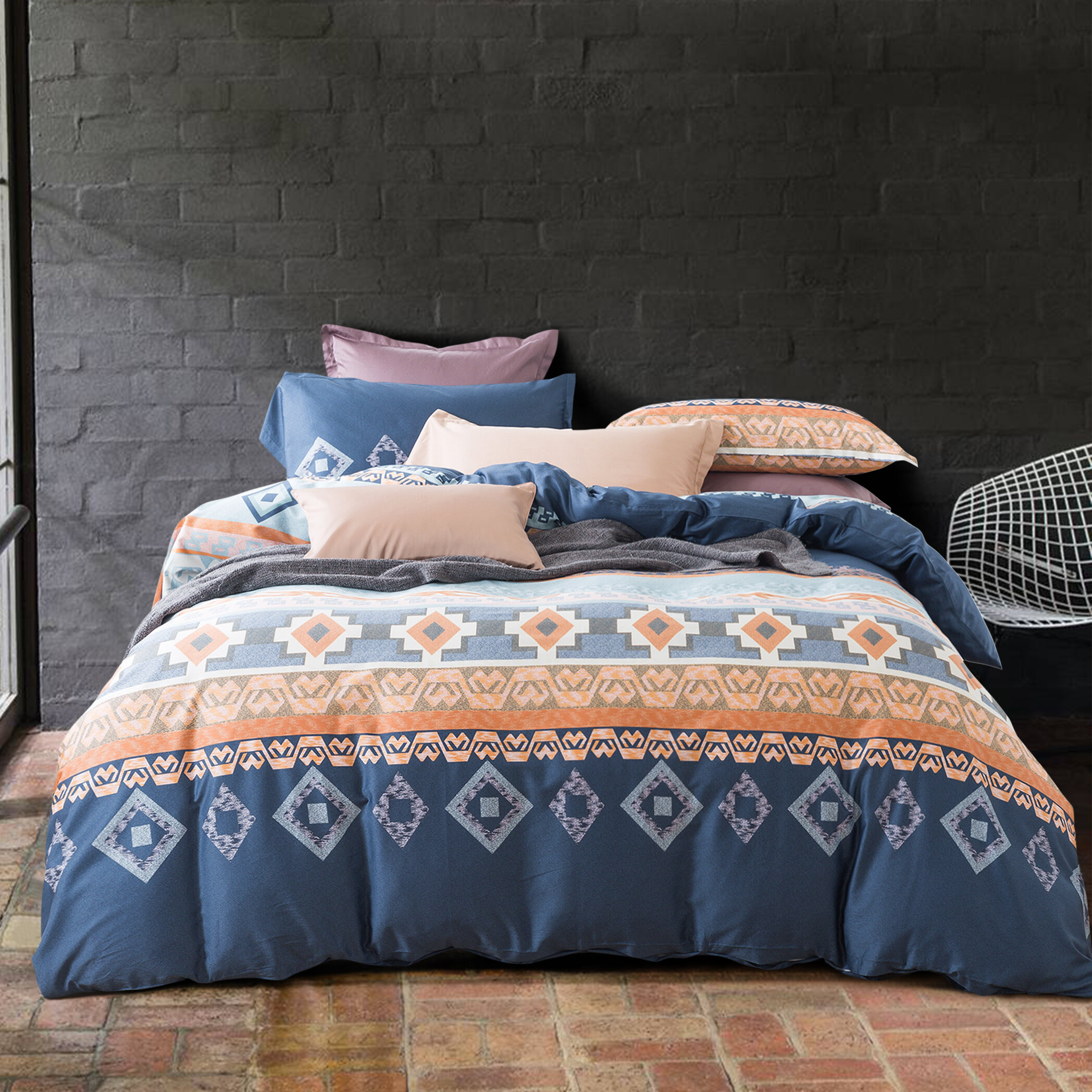 Bungalow Rose Mangrum Ethnic Boho Modern Geo Southwestern Duvet Cover Set Reviews Wayfair