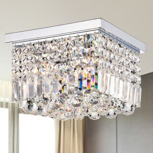 Mercer41 Homburg 4-Light Square Flush Mount