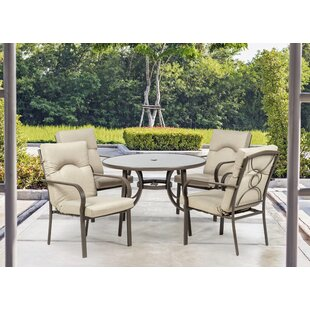 Check Price Amalfi 4 Seater Dining Set With Cushions