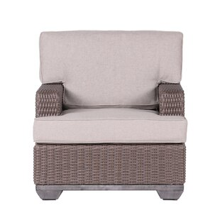Bayou Breeze Kovacs Patio Chair with Cushion (Set of 2)