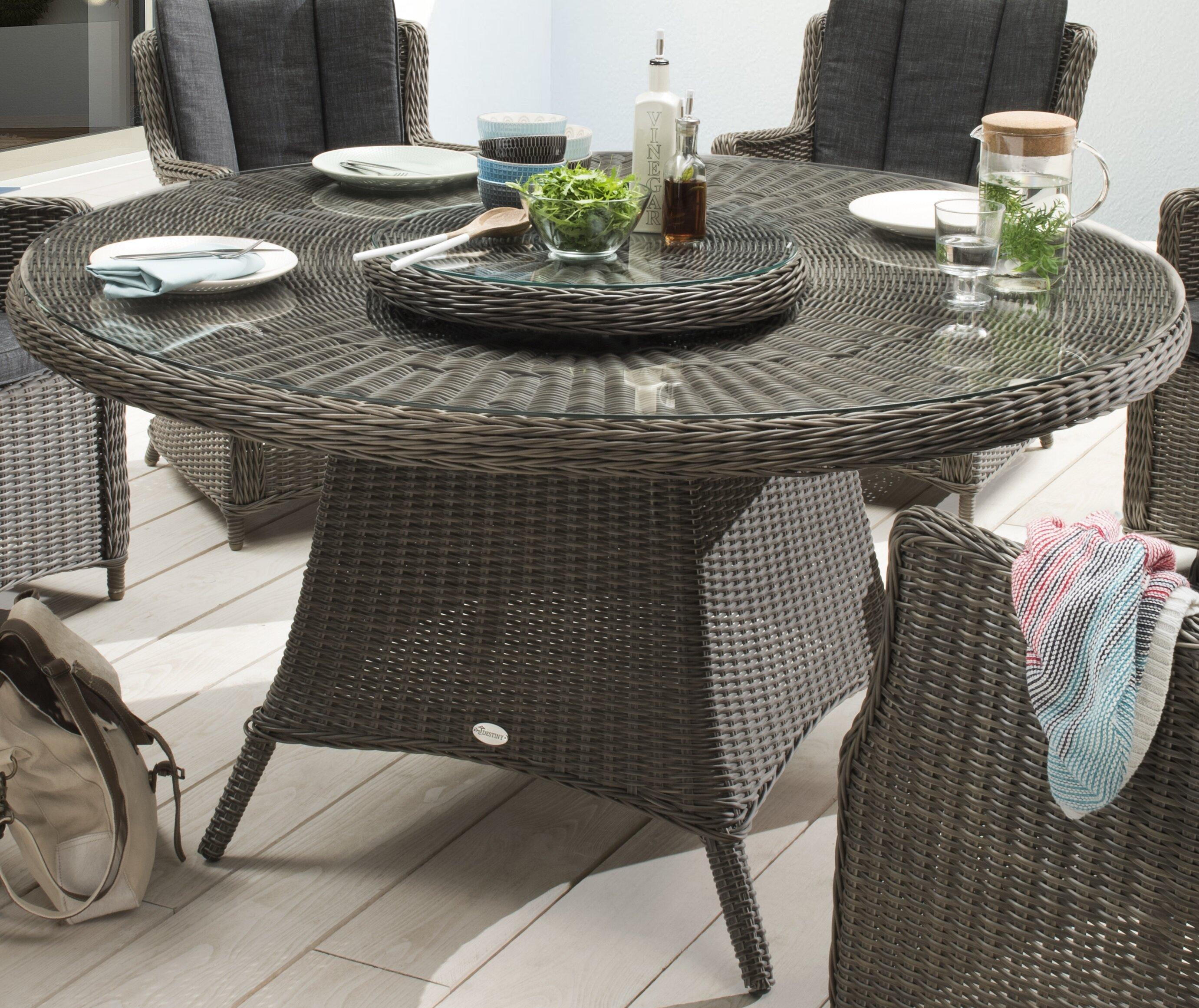 Dakota Fields Sandefur Rattan Dining Table Wayfair Co Uk