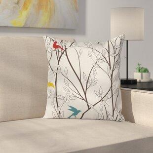 Birds Wildlife Cartoon Cushion Pillow Cover