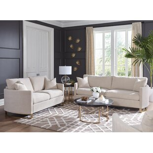 Nasrine 2 Piece Living Room Set by Everly Quinn
