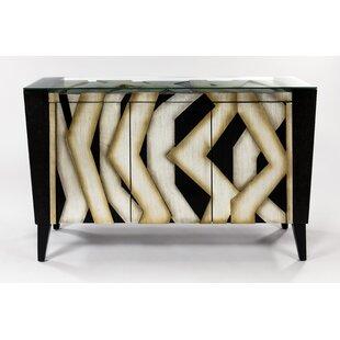Cabinet 1 Shelf 3 Door Chest by Artmax