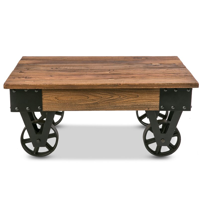 Industrial Coffee Table Images: Williston Forge Deon Industrial Coffee Table & Reviews