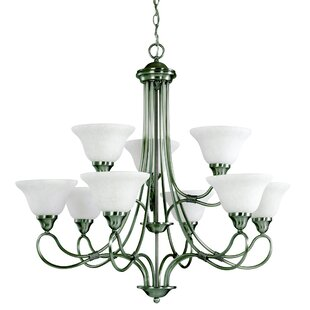 Kichler Stafford 9-Light Shaded Chandelier