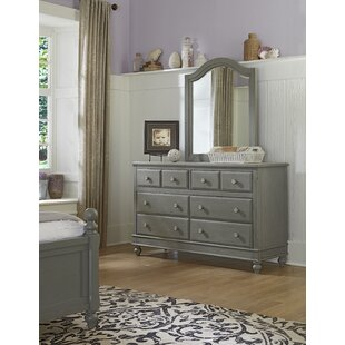 Affordable Price Nickelsville 8 Drawer Double Dresser with Mirror by Three Posts Reviews (2019) & Buyer's Guide
