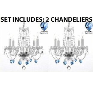 Rosdorf Park Raemoore 4-Light Candle Style Chandelier (Set of 2)