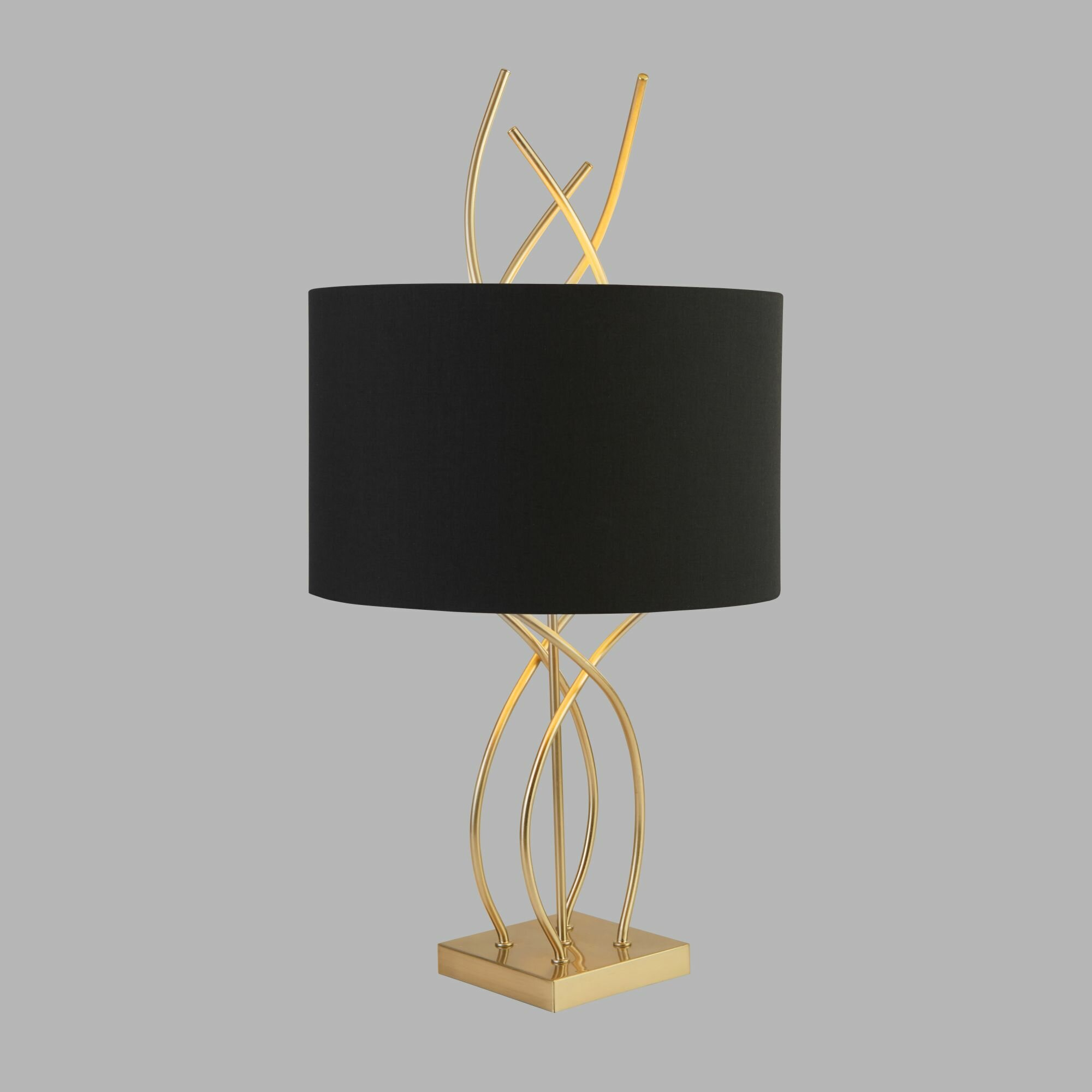 Table Lamp Panther Brass Gold Black Table Lamp Light Deco