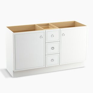 Jacquard? 60 Vanity with Toe Kick, 2 Doors and 3 Drawers, Split Top Drawer by Kohler