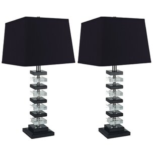 Rinki Solid Crystal 26 Table Lamp (Set of 2)