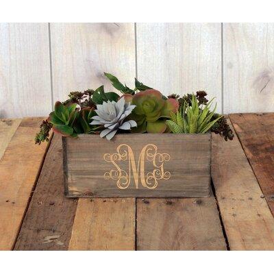 Macgregor Personalized Wood Planter Box Winston Porter -  94896D3775F74CCEBF5EC9BD555078C2
